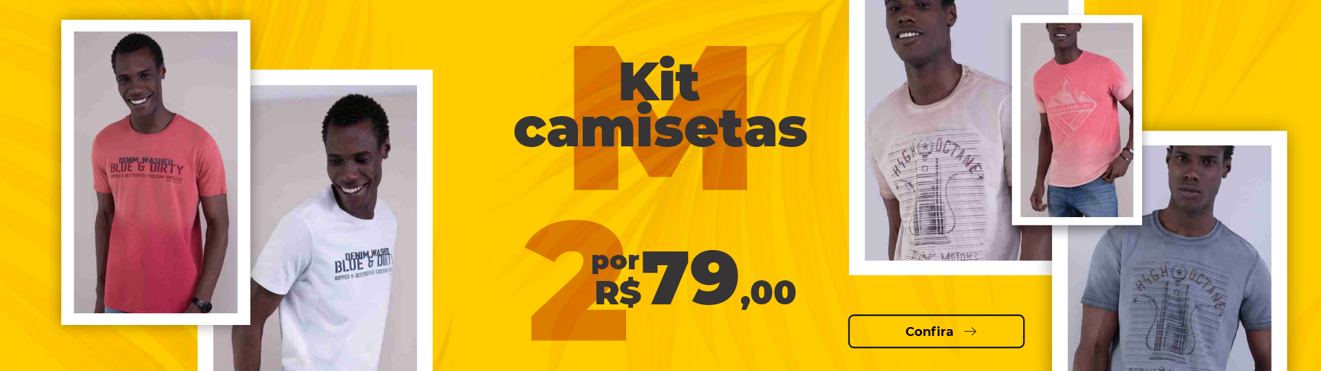 2 CAMISETAS POR 79,90