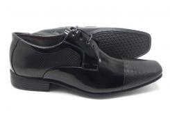 Sapato social  preto em couro envernizado Classic Men's Club