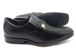 Sapato social  preto em couro com fivela  Classic Men's Club
