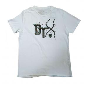 CAMISETA DETOX BRANCA COM ESTAMPA DE CORRENTE BIKE