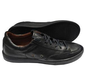 Sapatênis Dom Shoes preto em couro