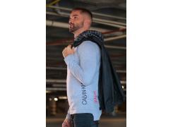Camisa Calvin Klein Tricot Cinza