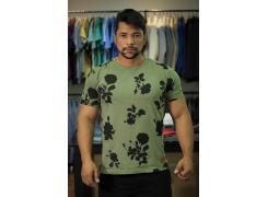 Camiseta Fors Verde Print Flower
