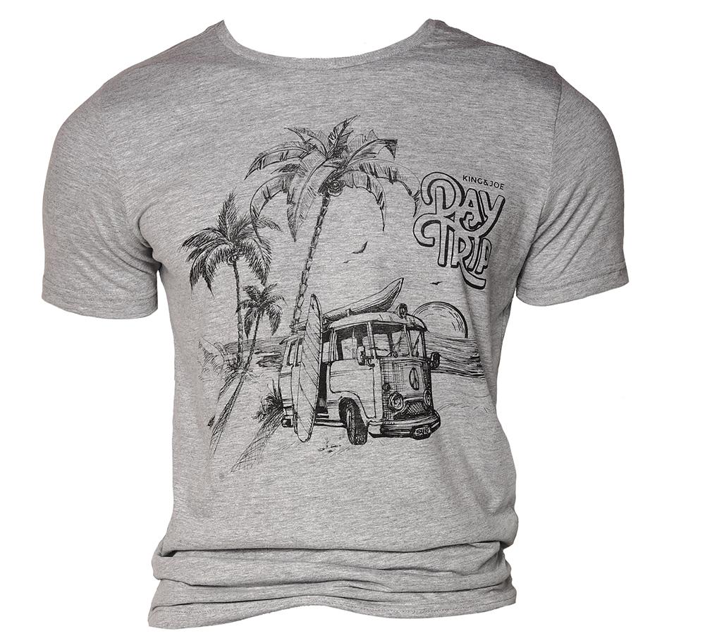Camiseta KING&JOE kombi cinza