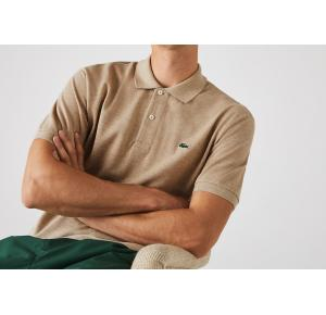 Camisa polo Lacoste bege mescla