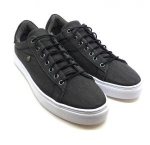 Sapatênis Dom Shoes Preto Cadarço Elástico