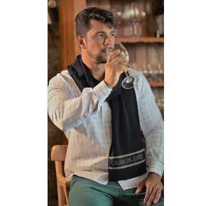 Cachecol Calvin Klein Jeans Logo Azul-Marinho