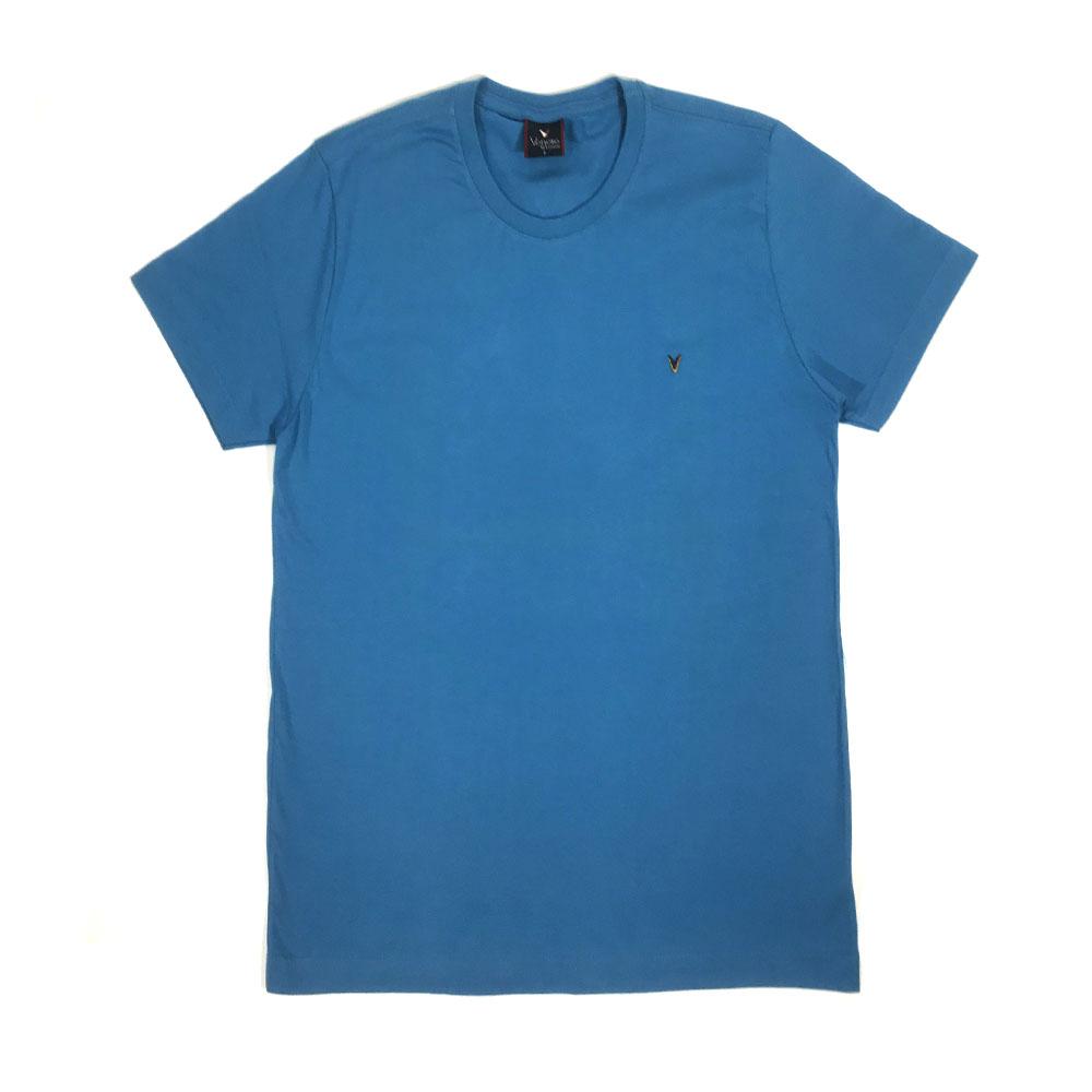 Camiseta Básica VENERE AZUL 100% ALGODÃO