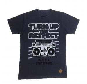 Camiseta FORS AZUL ESTAMPADA