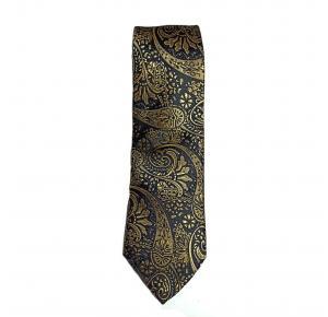 Gravata semi slim - Dourado / Preto