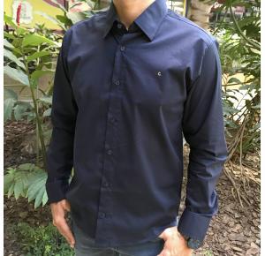 Camisa manga longa Classic men's club Azul marinho