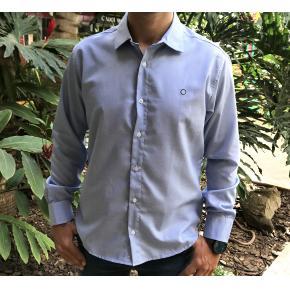 Camisa manga longa Classic men's club azul claro