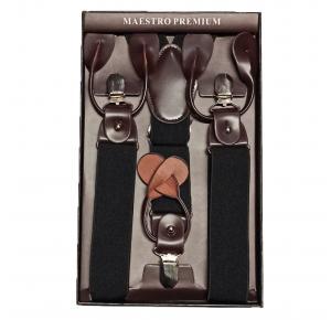 Suspensório Maestro Premium Preto com Marrom