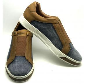Sapato Radamés Graxo Conhaque Couro e Jeans